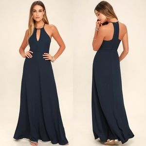 Lulu's Beauty and Grace Navy Blue Maxi Dress